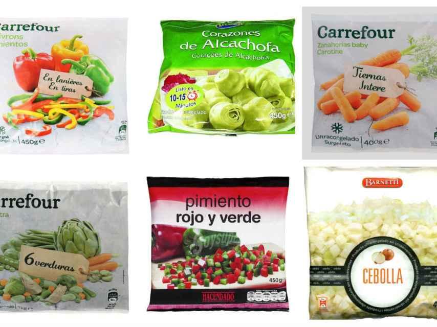 Varios 'packs' de productos troceados y congelados