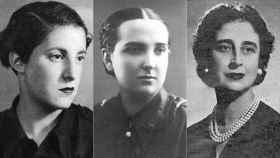 Las tres mujeres que protagonizan La Sección, en el Teatro Español.