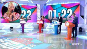 Intervención de Belén Esteban durante el debate en Cuatro.