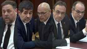 Oriol Junqueras, Jordi Sànchez, Raül Romeva, Josep Rull y Jordi Turull.