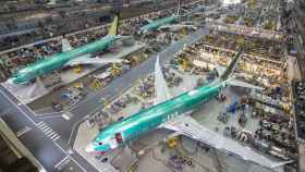 Una planta de fabricación del 737 MAX.