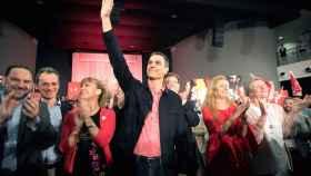 Pedro Sánchez, este viernes en Castellón, durante un mitin electoral.
