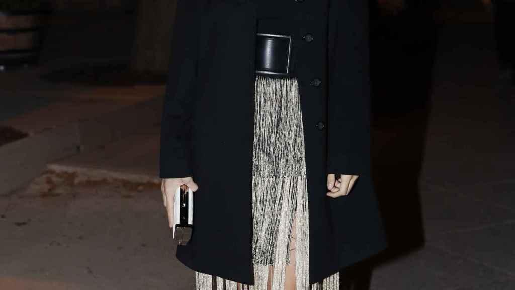 Elena Furiase durante una de sus salidas públicas.