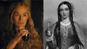 Lena Headey, interpretando a Cersei, y Margarita de Anjou.