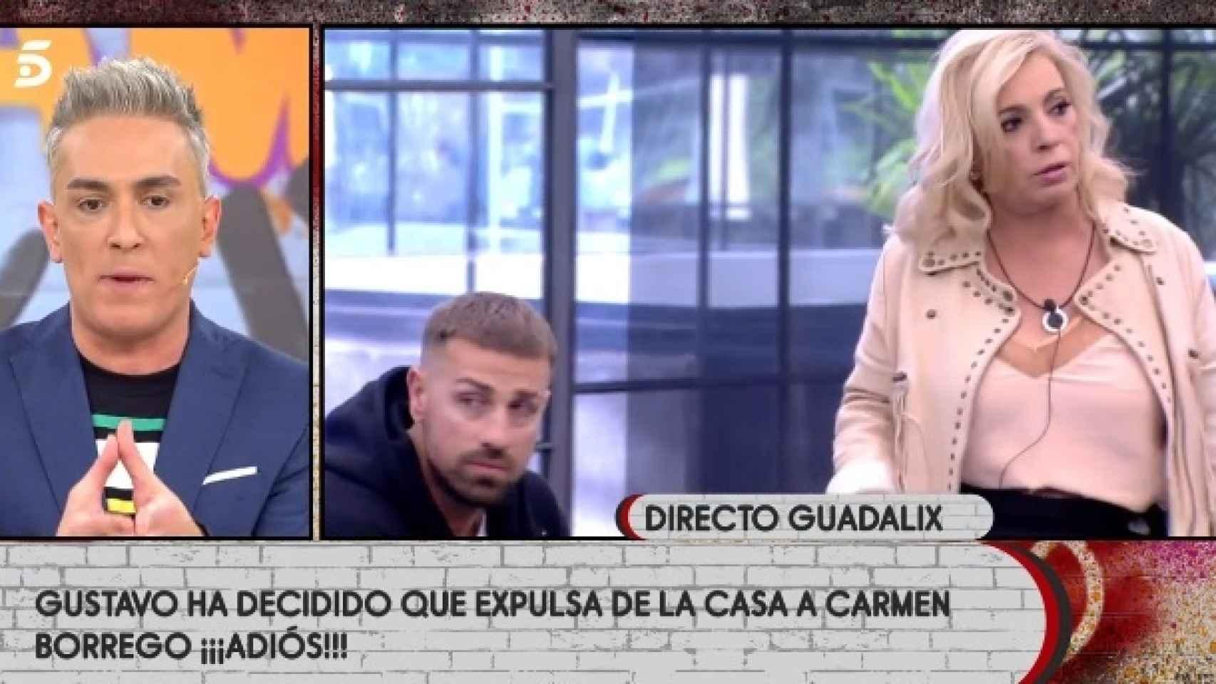 Kiko Hernández conecta con la casa de 'Sálvame Okupa' tras la expulsión de Rafa Mora.