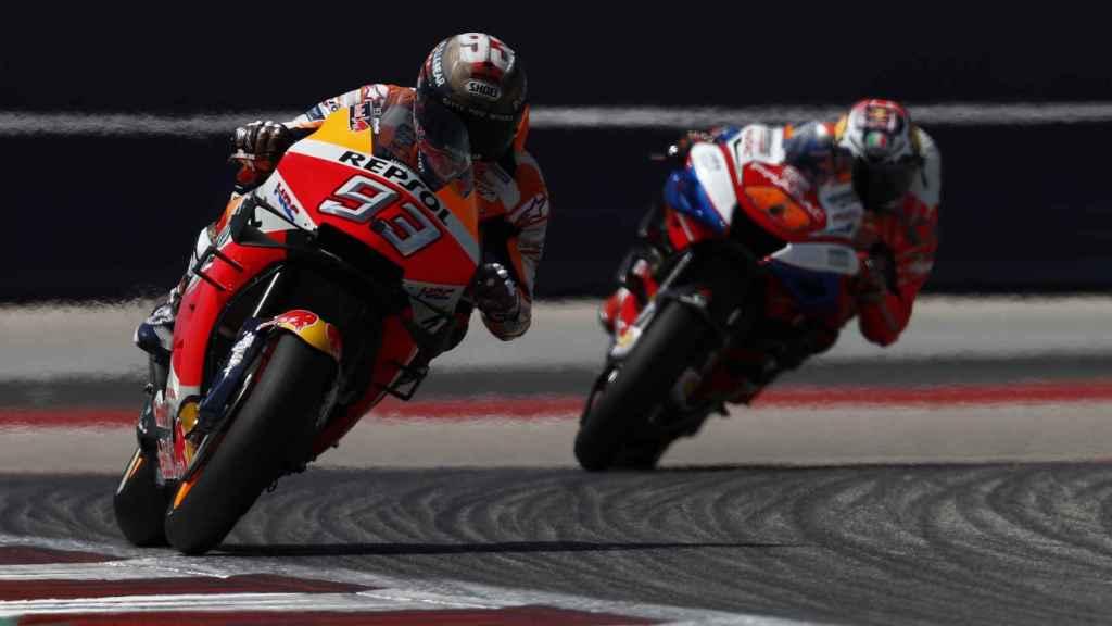 Márquez, durante el Gran Premio de Las Américas
