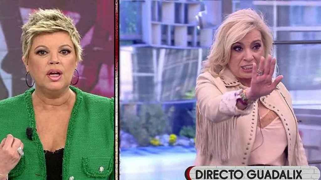 Terelu Campos y Carmen Borrego.