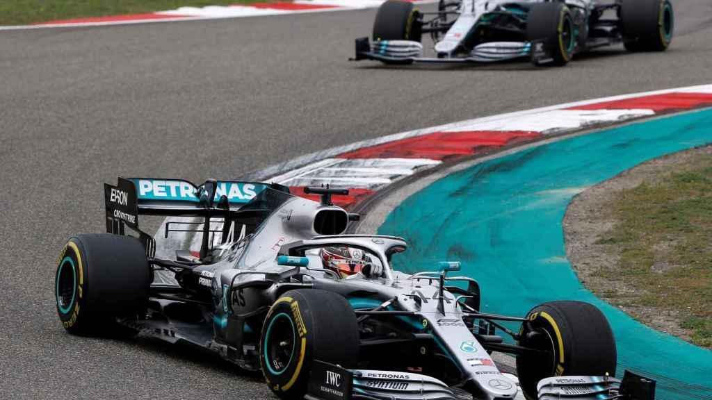 Hamilton y Bottas, en el Gran Premio de China de la Fórmula 1