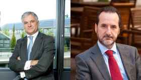 Miguel Garrido, actual secretario general de CEIM y Francisco Aranda, secretario general de UNO.