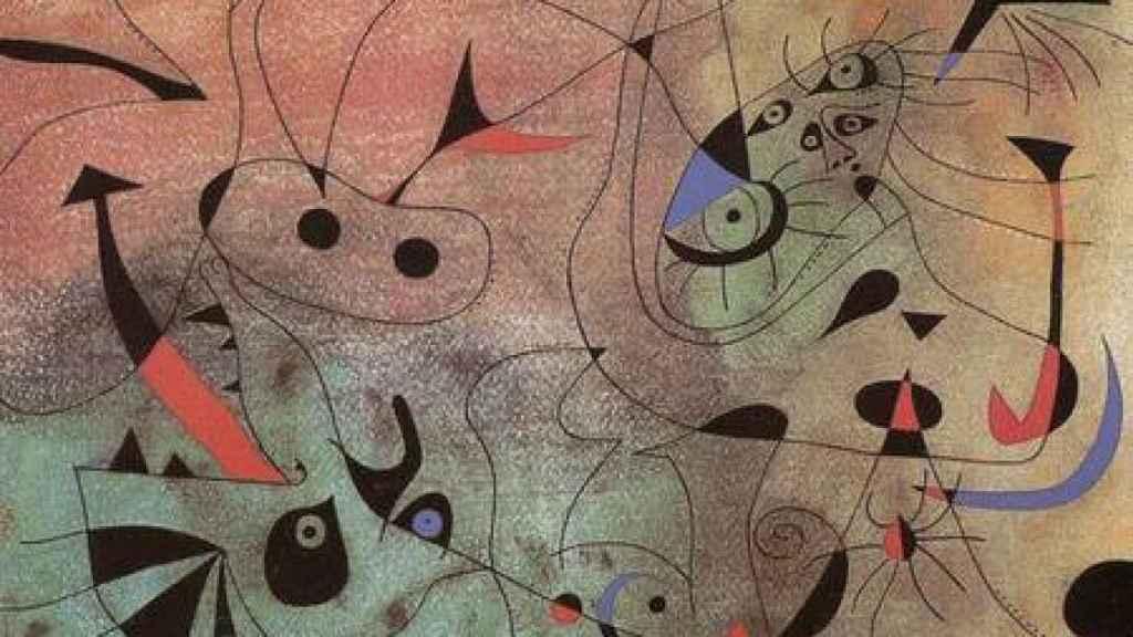 En la imagen, un cuadro de Joan Miró, artista que pintó la obra que el acusado hizo ingerir a su padre
