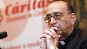 El cardenal Juan José Omella, arzobispo de Barcelona, en una rueda de prensa.