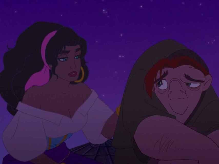 Esmeralda y Quasimodo.