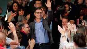 Pedro Sánchez, este martes en un mitin en Vigo.