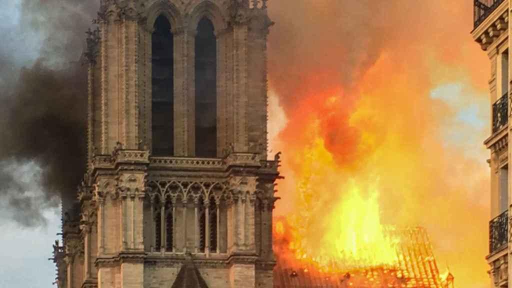 Imagen del incendio de Notre Dame
