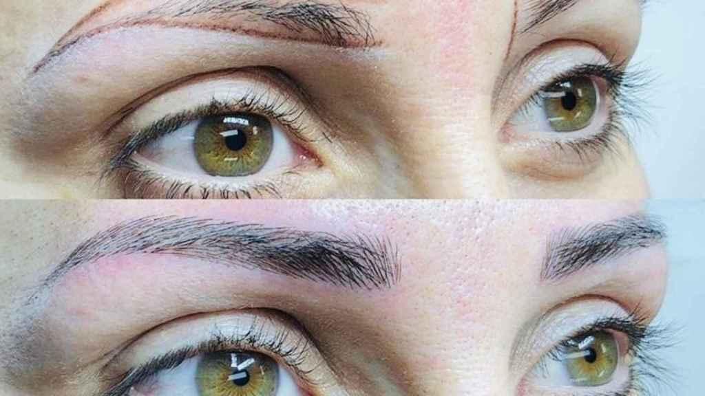 El microblading define y rellena las cejas que carezcan de pelo.