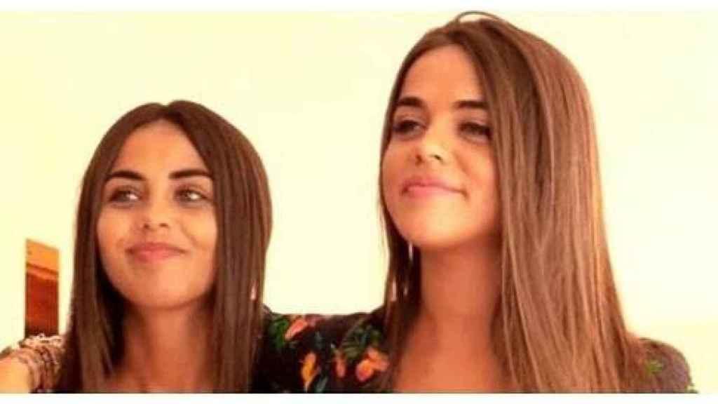 Violeta y su hermana Lila Mangriñán