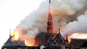 La aguja de Notre-Dame.