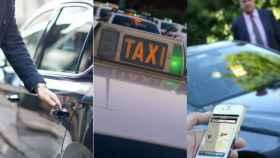 Montaje de coches de VTC y Taxi.