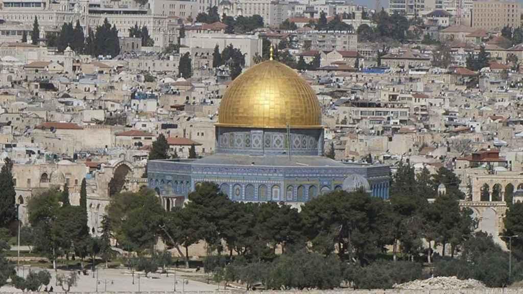 La mezquita de Al-Aqsa en Jersusalén.