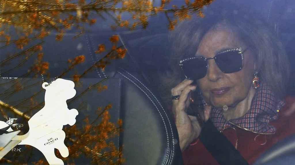 María Teresa en una imagen de archivo atendiendo una llamada.