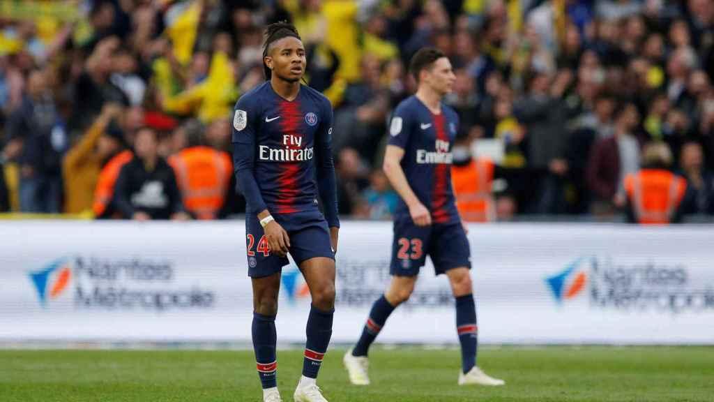 Nkunku durante el partido contra el Nantes