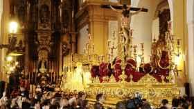 Paso de Semana Santa en Sevilla.