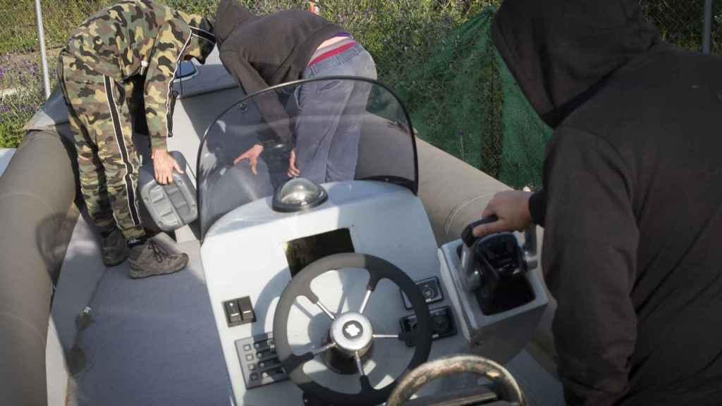 Una de las muchas lanchas que utilizan los narcotraficantes en el Campo del Gibraltar.