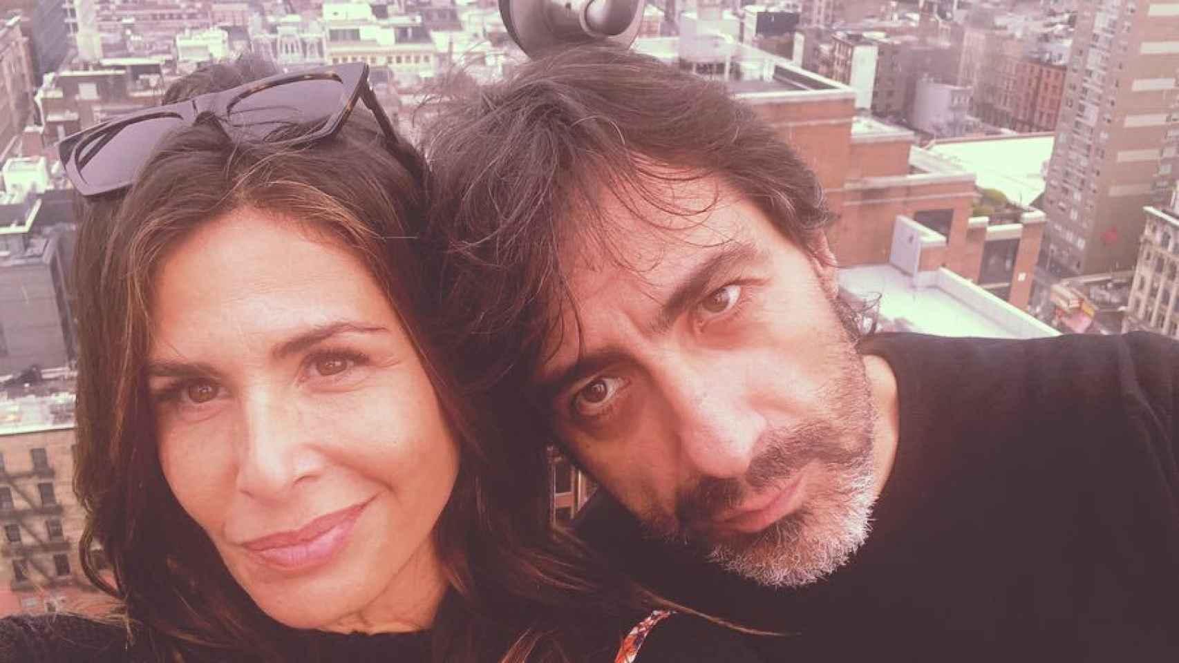 Nuria Roca y Juan del Val, en la azotea de su lujoso hotel en NYC.