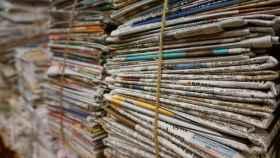 Periódicos impresos en una imagen de archivo.