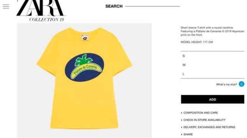 La camiseta se puede comprar en su tienda.