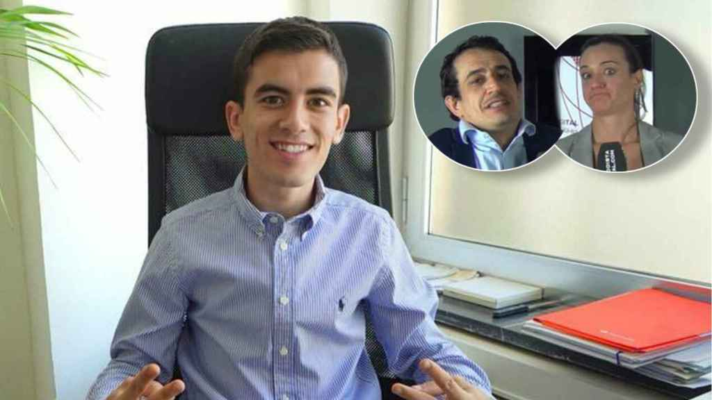 Jordi 'El Niño Polla' en una imagen de sus redes sociales junto a Silvia Charro y Simón Pérez en un montaje de JALEOS.