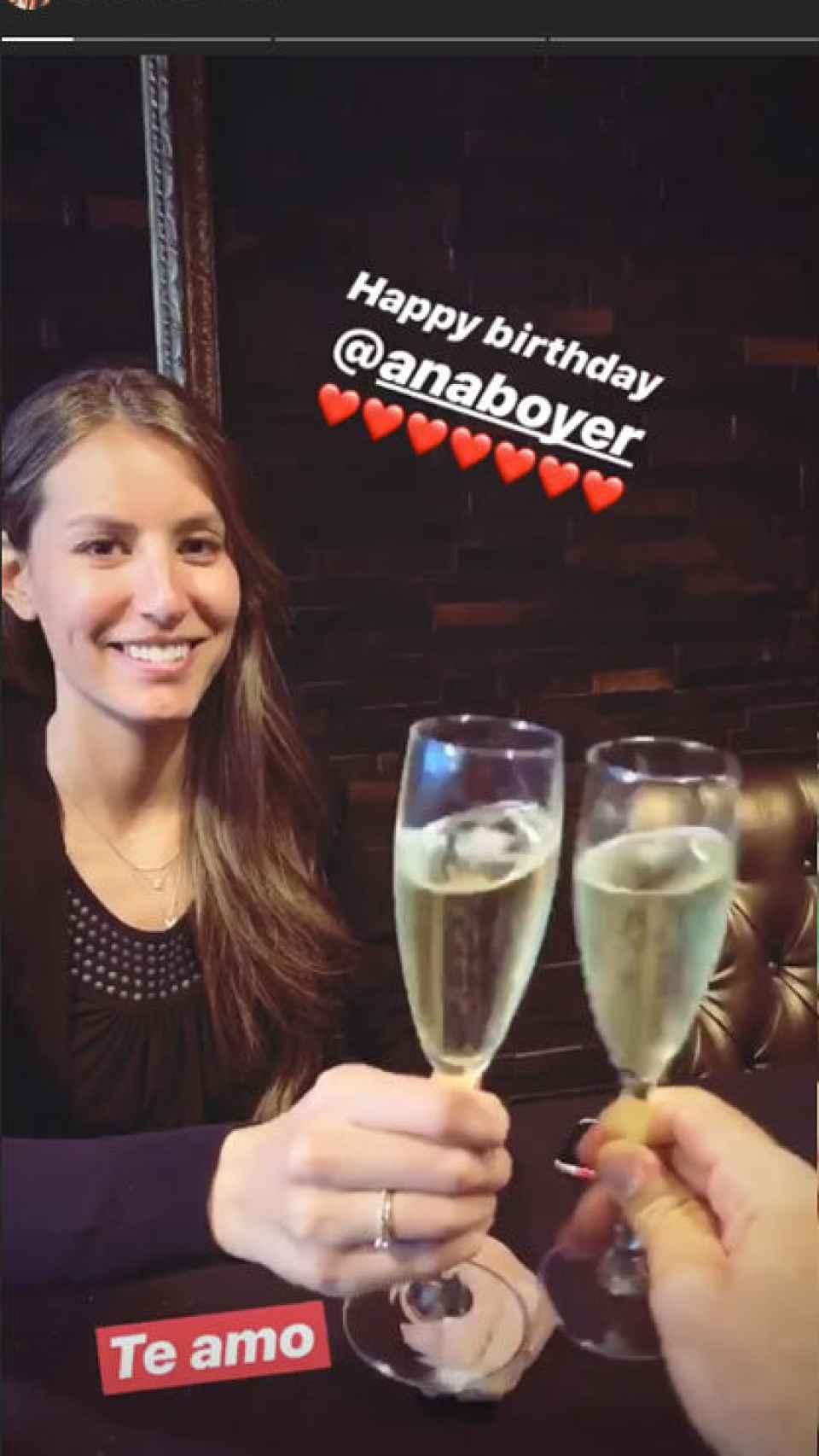 Ana Boyer y Fernando Verdasco cenando en Barcelona.