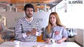 Raúl Rodríguez y Ane Olabarrieta en 'La cena de los Jaleos'.