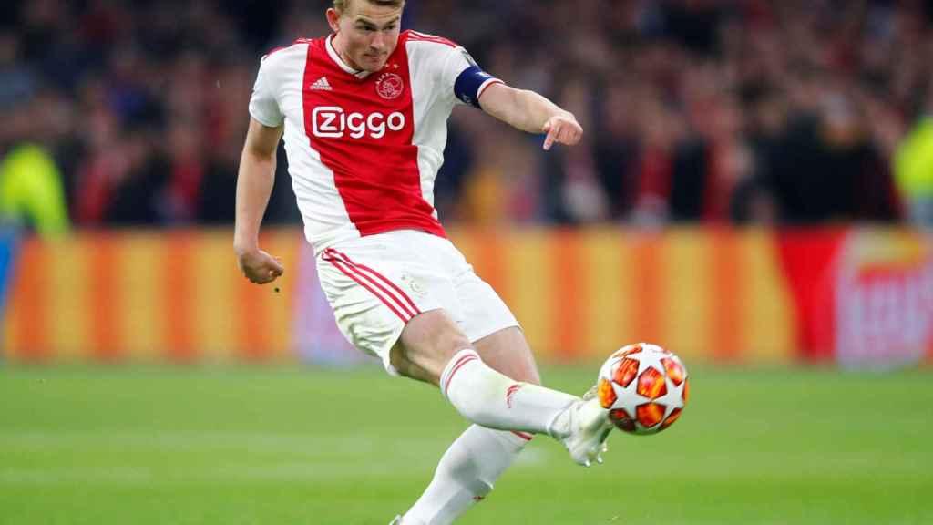 De Ligt, en un partido del Ajax