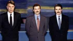 Fotografía oficial del debate televisado Aznar González