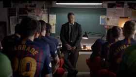 El Barça se 'disfraza' al estilo 'La Casa de Papel' para asaltar la Champions. Foto: FC Barcelona.