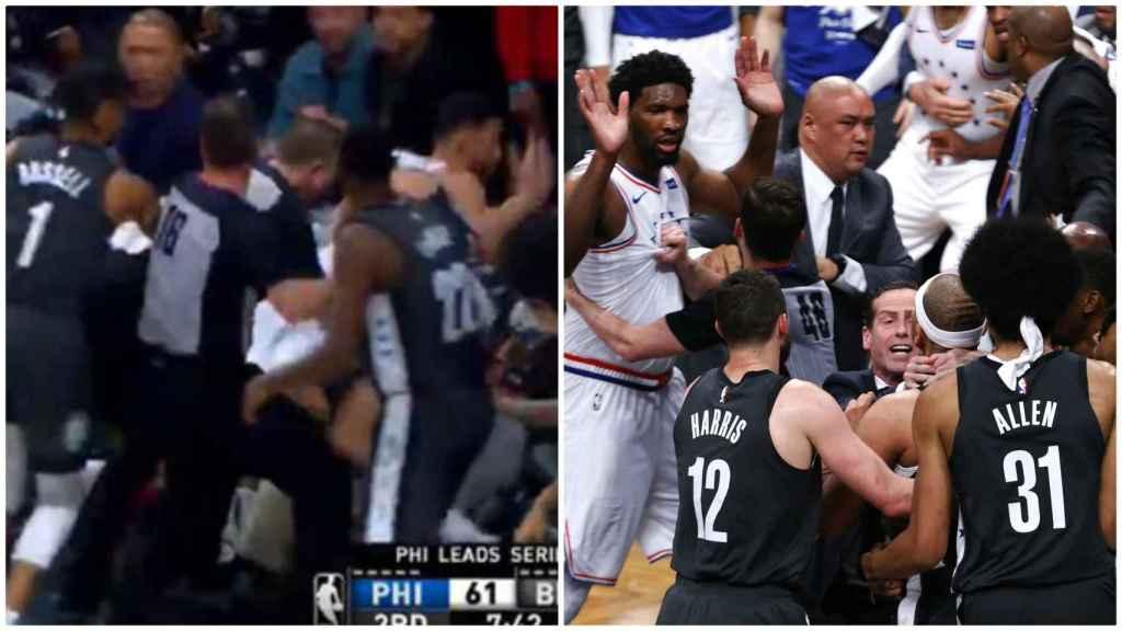 La brutal pelea entre los Nets y los Sixers