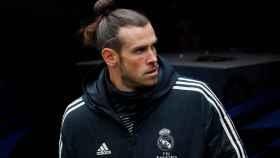 Gareth Bale en el banquillo del Santiago Bernabéu