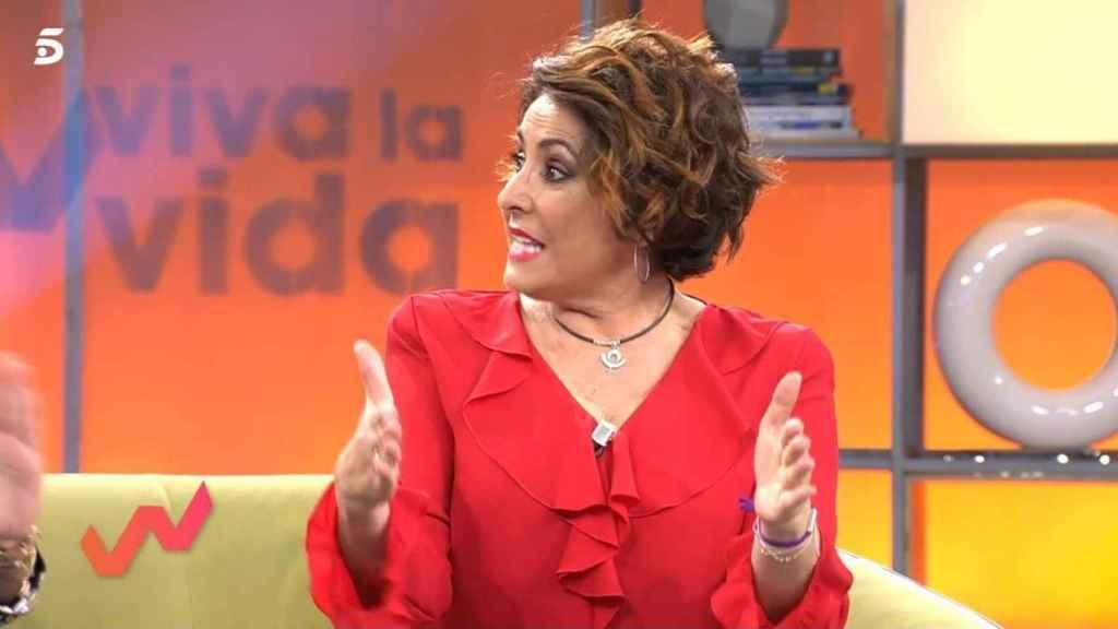 La presentadora durante el programa 'Viva la vida'.