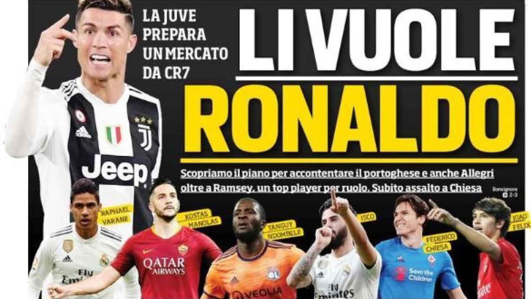portada Il Corriere dello Sport
