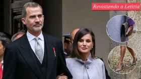 Felipe y Letizia antes de entrar en el recinto donde han entregado el Premio Cervantes.