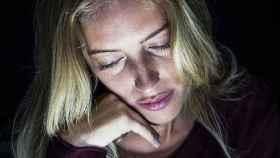 Una mujer con depresión.