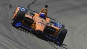 Fernando Alonso, en la preparación de las 500 Millas de Indianápolis