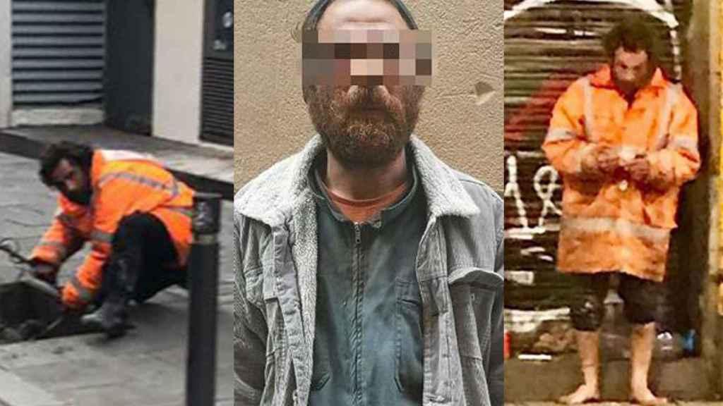El presunto violador del Raval robando cable y con un palo para pegar a las prostitutas.
