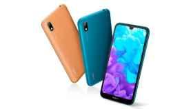 Huawei Y5 2019, trasera en imitación de cuero para un móvil muy ajustado