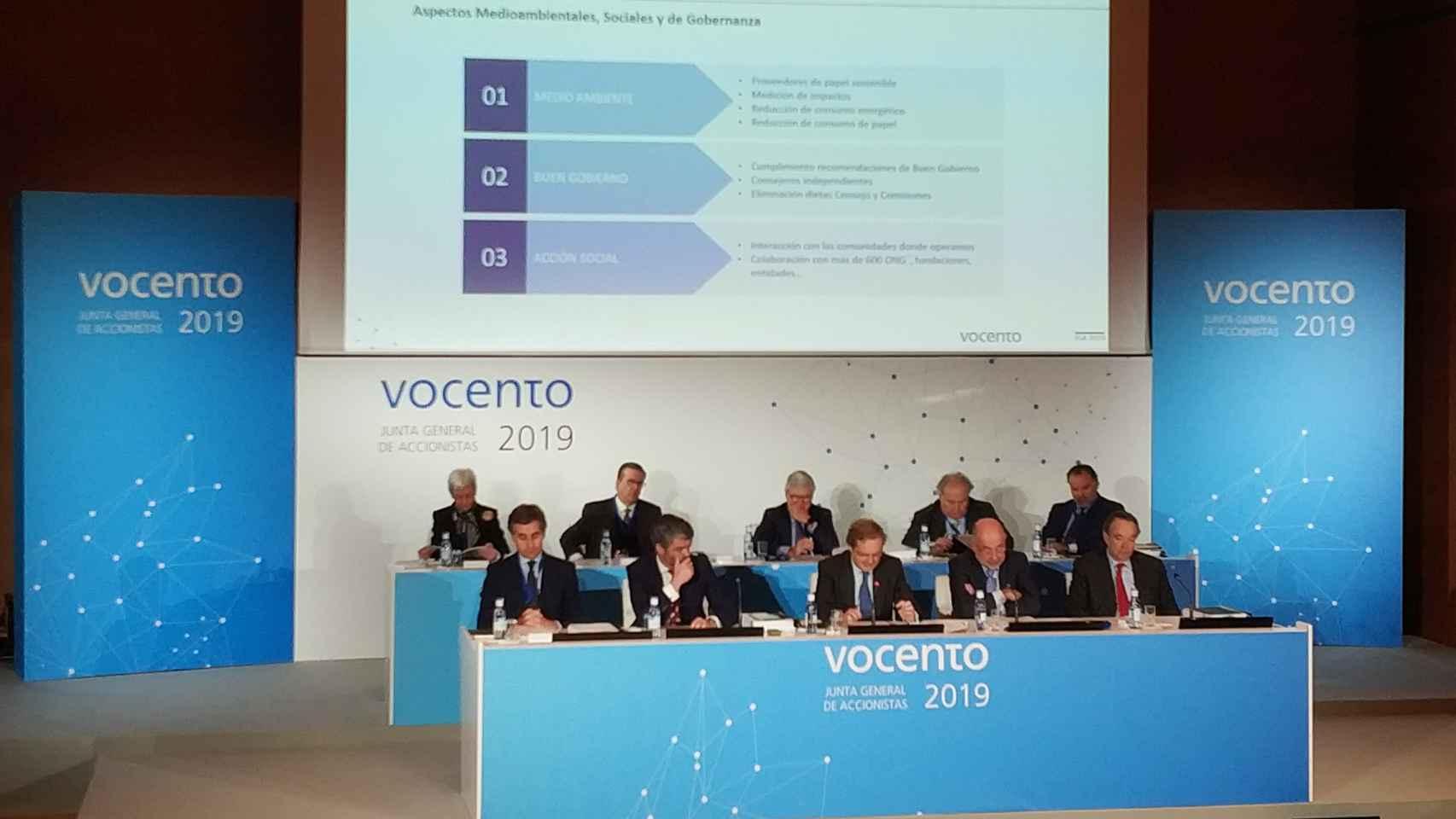 Junta de Accionistas de Vocento 2019, la última que se realizó de manera presencial.