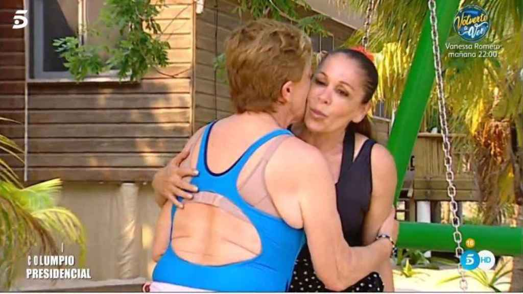 El momento previo en el que Pantoja saluda a Chelo.