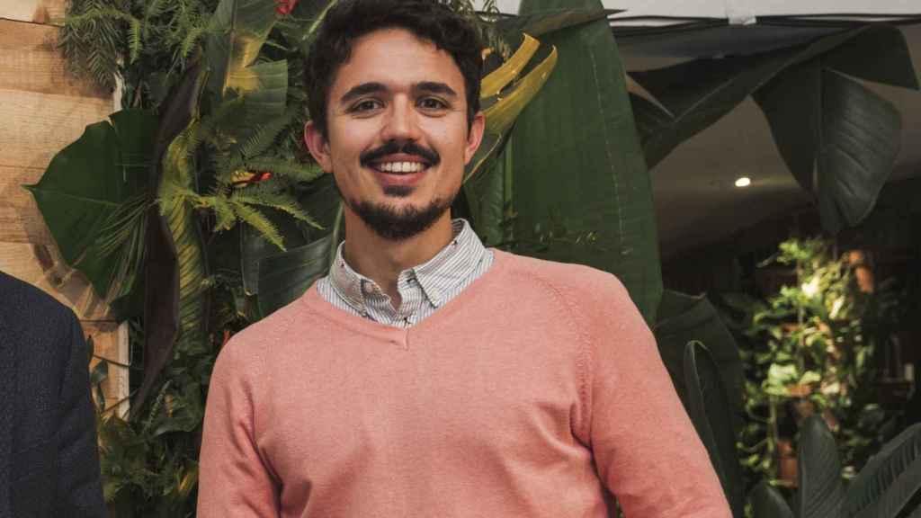 Carlos Ríos en el acto de Plátano de Canarias