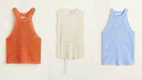 El tejido canalé no entiende de prendas, pero en su versión 'top' se lleva siempre el éxito.