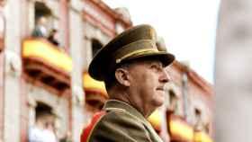 El dictador Franco, en una de las imágenes coloreadas.